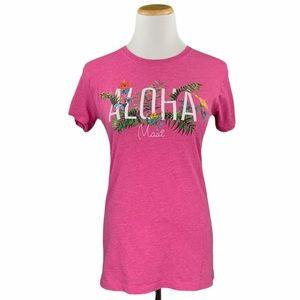Island Girl Pink Aloha Maui Short Sleeve Tee